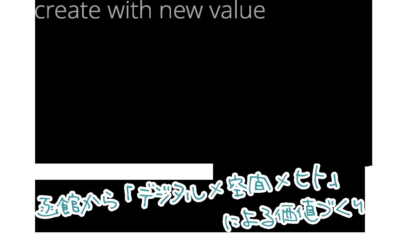 create with new value  WORK Lab.  HAKODATE 函館から「デジタル×空間×ヒト」による価値づくり